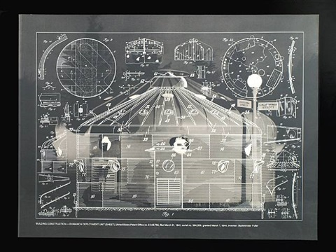 building construction dymaxion deployment unit from the portfolio inventions: twelve around one by buckminster fuller