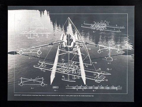 watercraft- rowing needles from the portfolio inventions: twelve around one by buckminster fuller