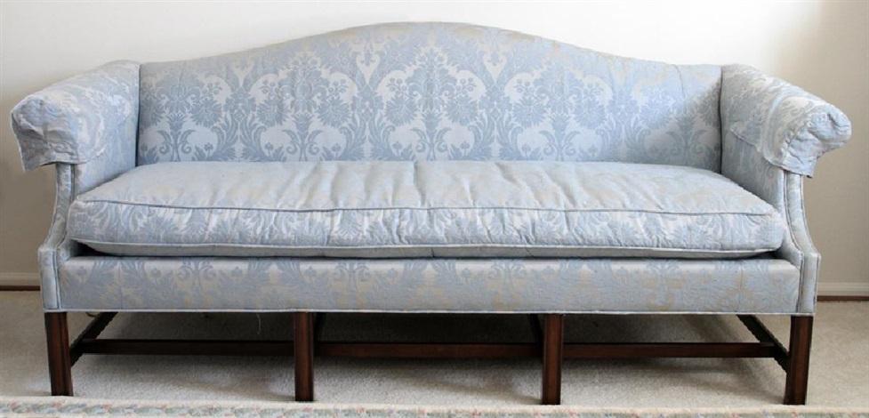Kittinger Mahogany Camelback Sofa By