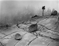 fog, olmsted pass, yosemite by dick arentz