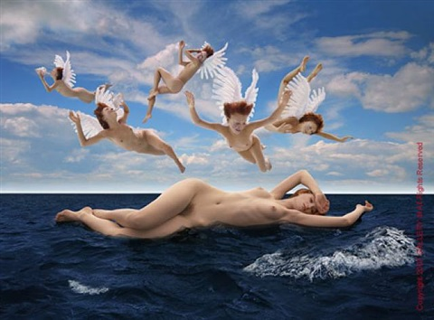 the birth of venus after the cabanel (1863) by howard schatz