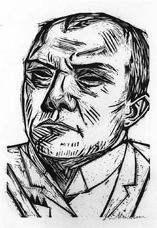 selbstbildnis (self-portrait) by max beckmann