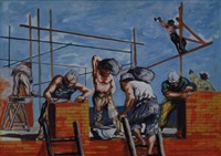muratori al lavoro by ugo attardi