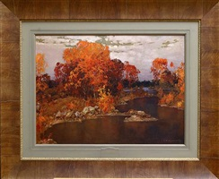 autumn morning (sold) by stepan feodorovich kolesnikov