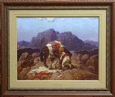 albanian warrior (sold) by stepan feodorovich kolesnikov