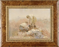 boys in the field (sold) by stepan feodorovich kolesnikov