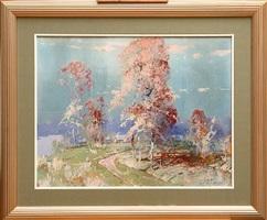 autumn landscape by stepan feodorovich kolesnikov
