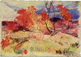 autumn (sold) by stepan feodorovich kolesnikov