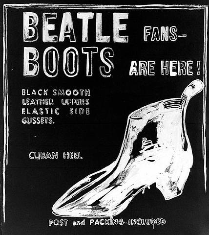 beatle boots (negative) by andy warhol