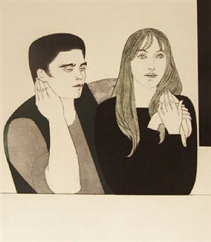 the young couple by will barnet