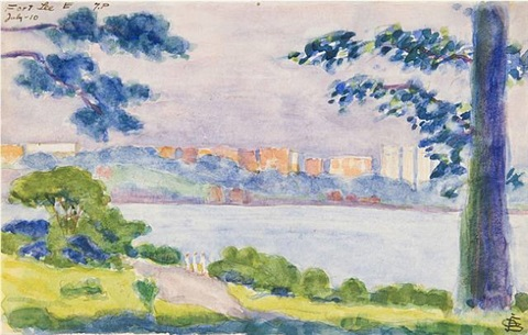 fort lee, new jersey, july 10, 1910 by oscar florianus bluemner