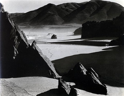 garapata beach, california by brett weston