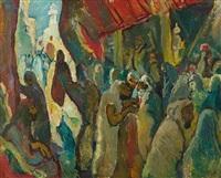 auf dem bazaar by eugen von kahler