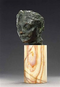 mask of a woman with a turned-up nose by auguste rodin