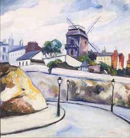 moulin de la galette, montmartre by elisée maclet
