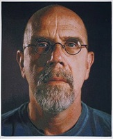self-portrait/color by chuck close