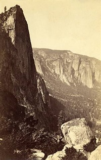 the sentinel from union point, yosemite by carleton e. watkins