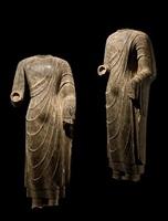 standing buddha, northern qi