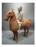 horse with female rider, western han dynasty
