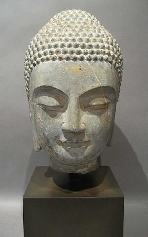 head of buddha, northern qi dynasty