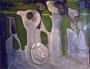 composition en vert el blanc by francisco bores