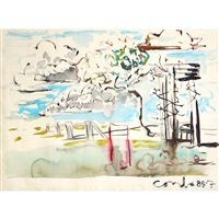 untitled (classical landscape) by george condo