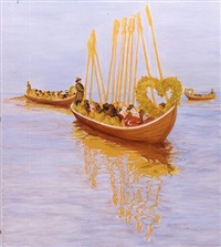 church boats by sigrid holmwood