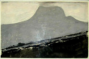 grey mountain by milton avery