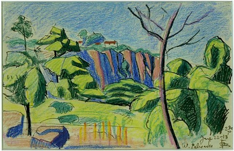west palisades by oscar florianus bluemner