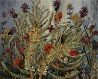still life with flowers by sir cedric lockwood morris