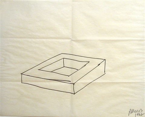 untitled drawing for square donut by robert morris