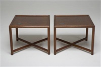 janus side tables for dunbar by edward wormley