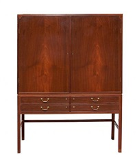 mahogany cabinet by ole wanscher