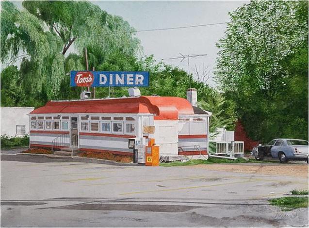 tom's diner by john baeder