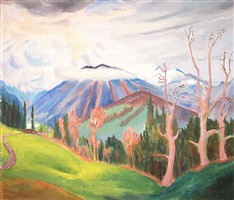 gebirgslandschaft by erich heckel
