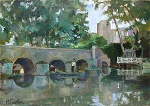 boatman on a river by henri epstein