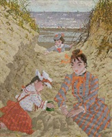 dans les dunes de st. cecile a maree basse by suzanne eisendieck