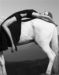 amber reclining on horse, malibu california by warwick saint