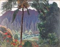 view of a valley, hawaii by eugene francis savage