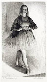 the dancer (anais) by gerald leslie brockhurst