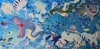 deva loka bleu by yoshitaka amano