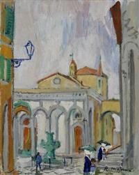 angolo di città (piazza santissima annunziata) by rodolfo marma