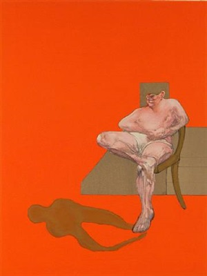 triptych 1983 (right panel) by francis bacon