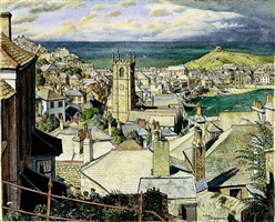 st. ives, cornwall by stanley roy badmin