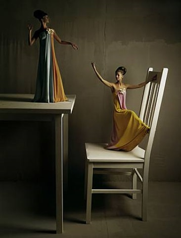 big chair and table, bazaar by melvin sokolsky