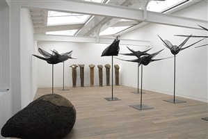 installation view: birds, conglomerates, ghosts, spirits - magdalena abakanowicz, 2008 by magdalena abakanowicz