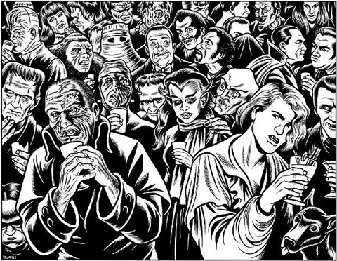 frankenstein & dracula: new yorker by charles burns