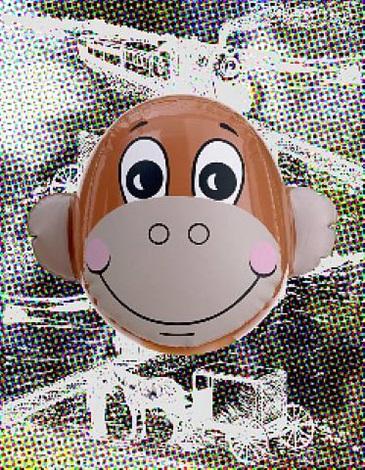monkey train (dots) by jeff koons
