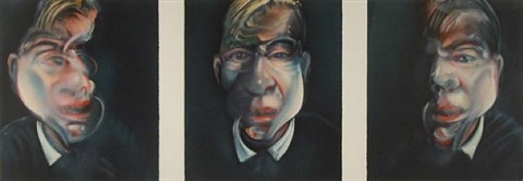 three studies for self-portrait by francis bacon