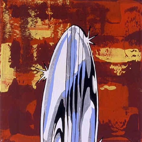 47b09e7a1 Silver Surfers Surf Board by Robert Reitzfeld on artnet